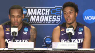 Stokes, Brown Jr. discuss overcoming Dean Wade's absence in Kansas State's win over Creighton