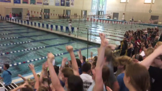 Lancers look good, finish third at state swim meet