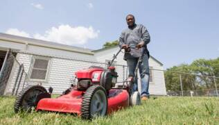 Wichita man challenges 100 people to help mow lawns
