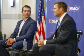 Donald Trump Jr. comes to Wichita to stump for Kris Kobach