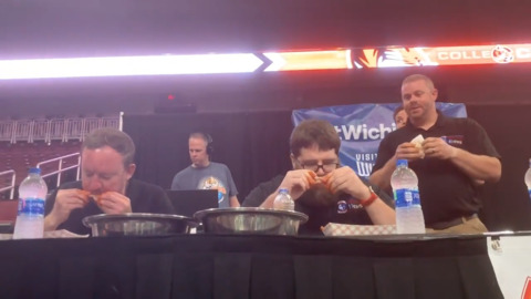 First responders go head-to-head in wing eating competition