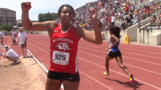McPherson's Elle Barrett breaks 4A state meet record in triple jump