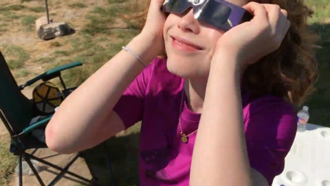 Shelby Cramb views the 2017 eclipse in Wyoming