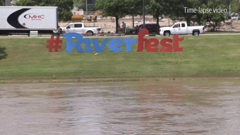 After storm forces Riverfest attendees to take cover, activities will resume