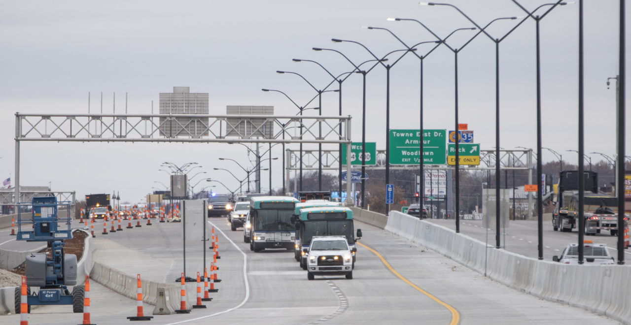 Four years after road construction started, East Kellogg partially opens to traffic