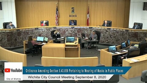 Mask mandate extended for Wichita after 7-hour public hearing, protest at Century II