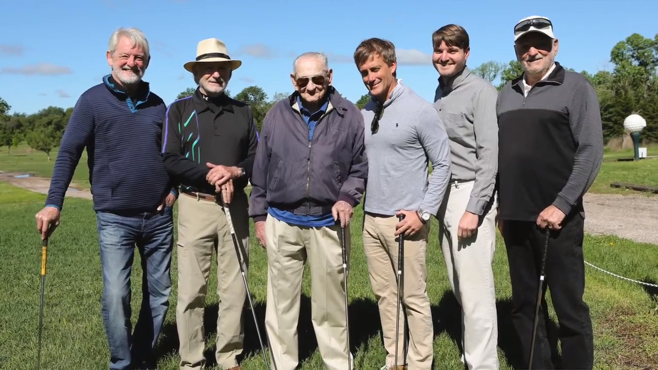100-year-old Newton man's birthday wish granted: A round of golf with his three sons