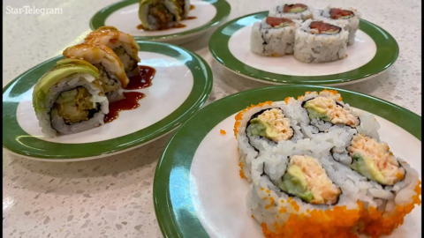 The 'revolving sushi' train is now in Mansfield. And it's coming to Fort Worth