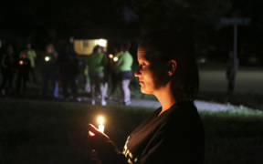Vigil for Lucas Hernandez held in front of his home