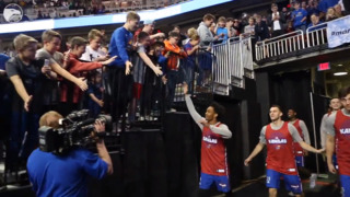 Huge crowd watches KU practice for NCAA Tournament
