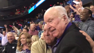 Former K-State great Ernie Barrett, now 88, celebrates K-State win in Elite Eight
