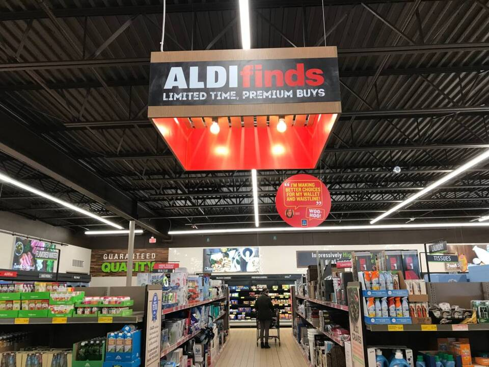 Aldi a discount grocery store popular with Wichita foodies