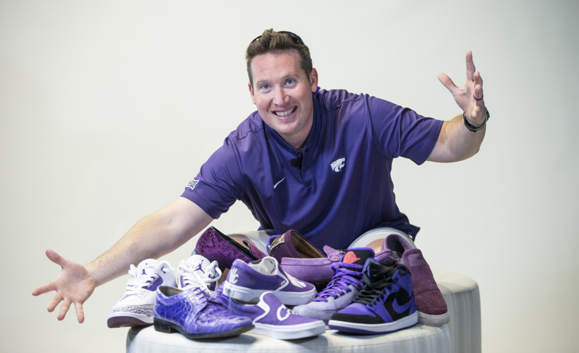 This man's shoe collection has become a valuable recruiting tool for K-State football