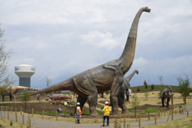 Take a tour of the animatronic dinosaur park in Derby