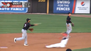Watch Wichita Wingnuts turn their first triple play in a decade