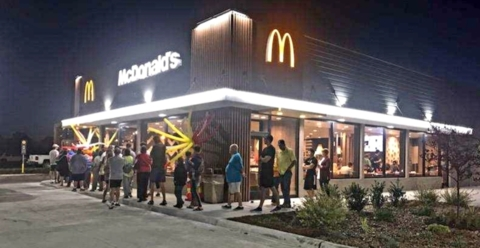 Free McDonald's for a year? Residents came early for the chance