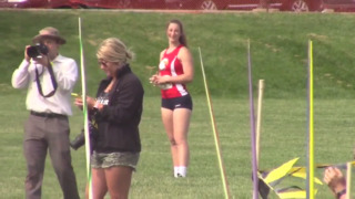 Olathe North's Dana Baker shows why she's the No. 1 javelin thrower in the US