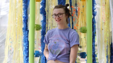 Wichita artist has created a 'human car wash' for people to walk through