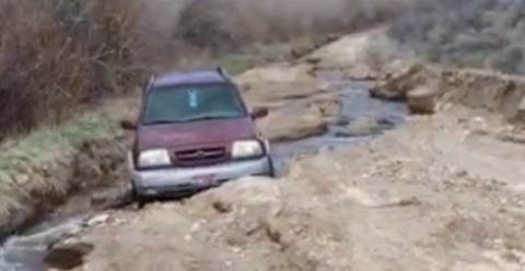 Creek washes out key road that serves Boise Foothills trails, Race to Robie Creek