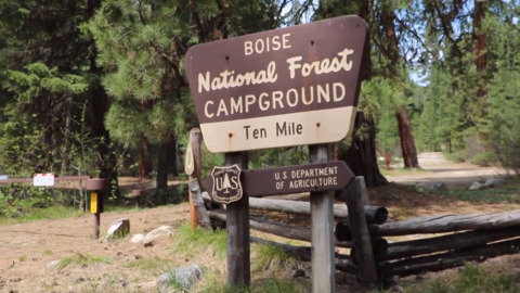 Forest Service employees prep Boise National Forest campgrounds for Memorial Day weekend