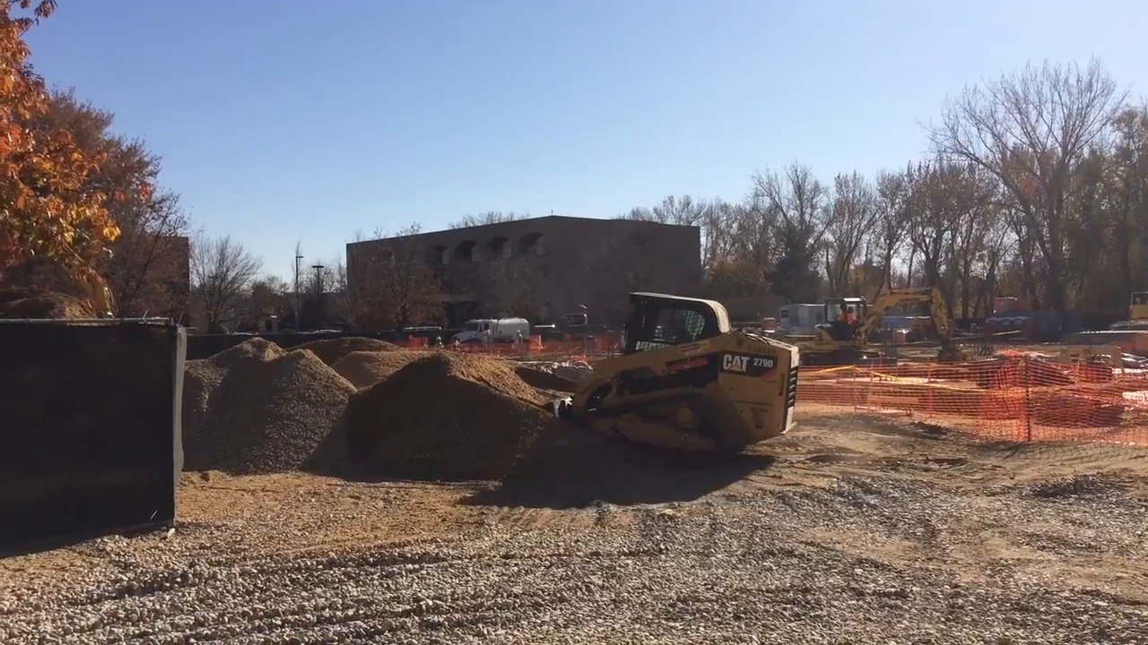 Construction has started on former parking lot next to The Ram. Here's what's going in