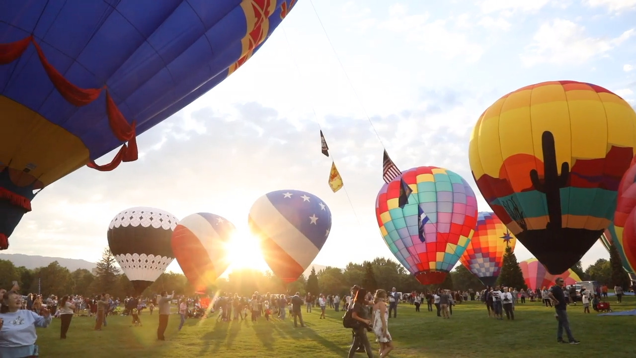 See the balloons, you will. Yoda, and many others, soar from Ann Morrison Park.