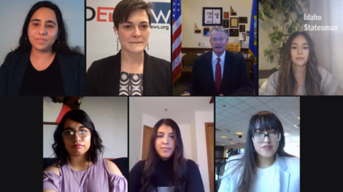 Nuestras Voces: Latino students talk with Gov. Brad Little about Education