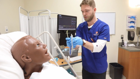 Practice makes perfect: BSU nursing students practice on sophisticated mannequins
