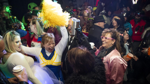 A year of planning, a dungeon, 120 skulls: Eagle woman hosts 'epic' Halloween party