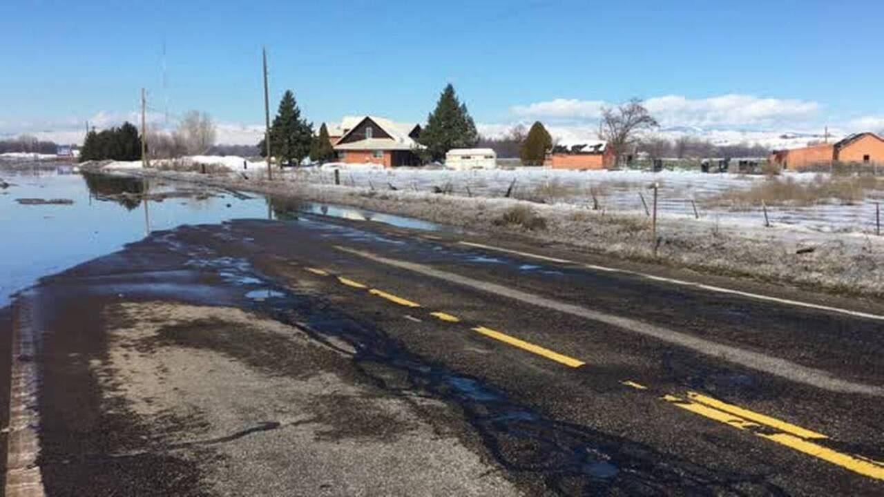 Flooding in Idaho | Weiser, Bruneau, Boise, Payette | Road