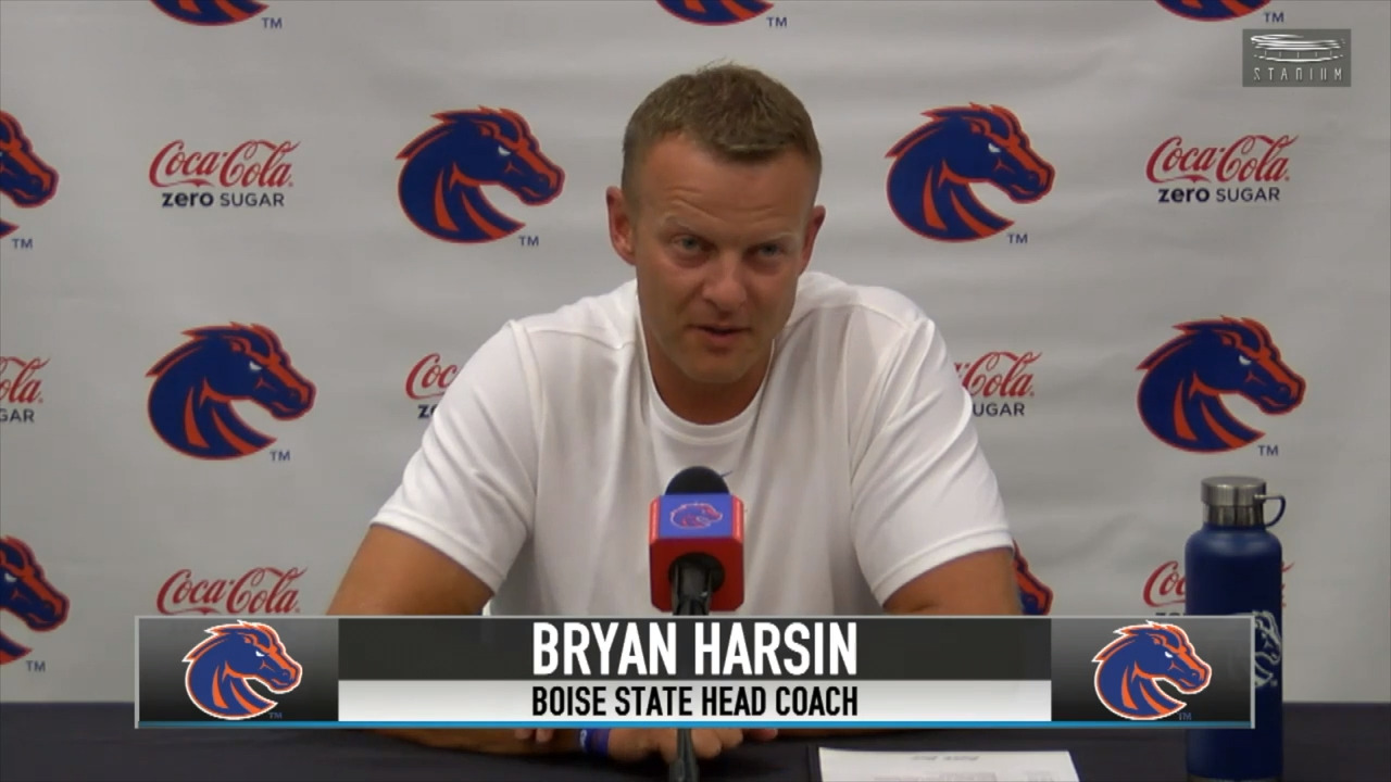 Boise State football coach Bryan Harsin on QBs, RBs and fall camp