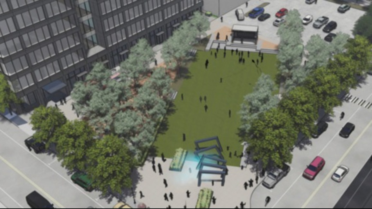 This Downtown parking lot will trade pavement for grass and maybe even a fog machine.