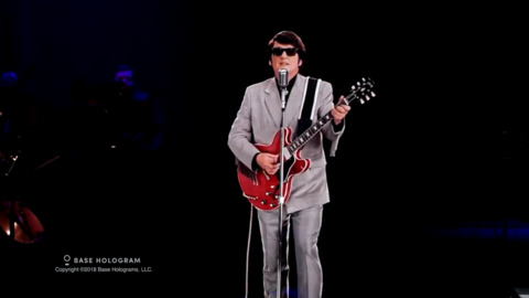 Roy Orbison footage from hologram concert tour