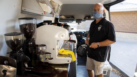 Coffee truck loses the generator hum for a greener power supply
