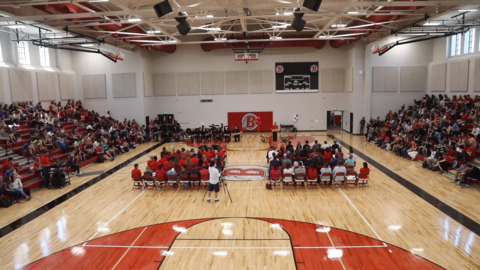 Boise High School's newly renovated gym, thanks to voters.
