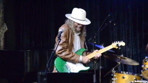 Guitar player Russ Martin performs with Boise musicians at benefit concert