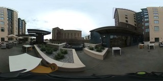 View Boise's new Marriott Residence Inn third floor patio in 360 degrees