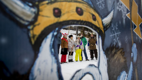 Bogus Basin Ski Club celebrates Ullr Festival with Norse costumes and snow chants