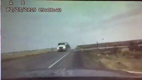 ISP trooper avoids head-on crash