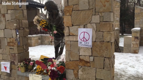 See how Boise community responded to Anne Frank Memorial vandalism