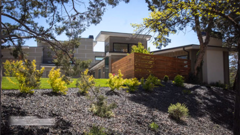 """Midcentury modern remodeled to """"neo-modern."""" In other words, wow."""