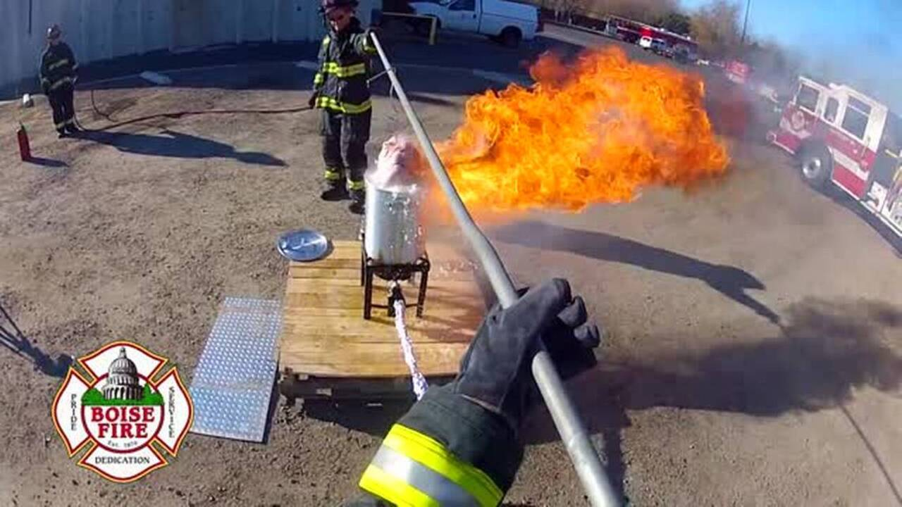 With Thanksgiving around the corner, Boise firefighters warn of deep fryer danger