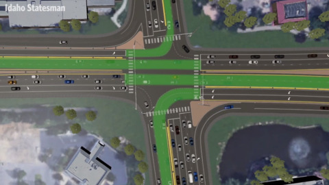 Intersection of Eagle Road, Idaho 44 will force drivers to learn a new way to maneuver