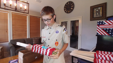 His senior / Eagle Scout project honors veterans