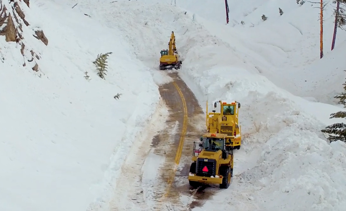 Remember the Idaho road buried under 50 feet of snow? See the wall of snow crews dug out