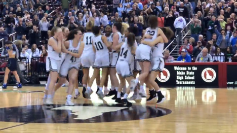 Eagle girls basketball celebrates first title in program history