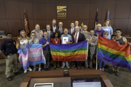 Wake County leaders proclaim June as LGBT Pride Month