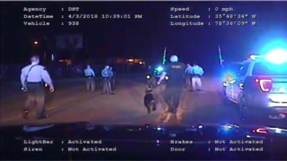 Dashcam video shows deputy striking and police dog attacking man in Raleigh street