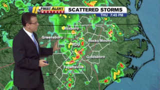 Storms move in on top of heat and humidity