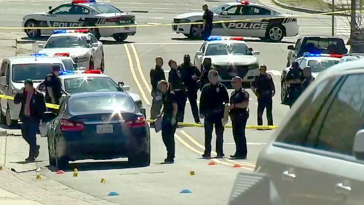 1 wounded, 2 in custody after downtown Durham shooting